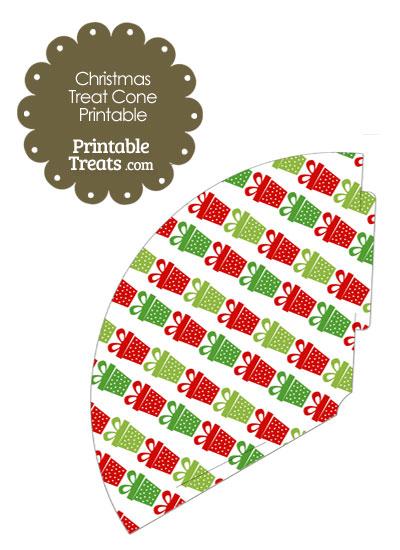 Christmas Presents Printable Treat Cone from PrintableTreats.com