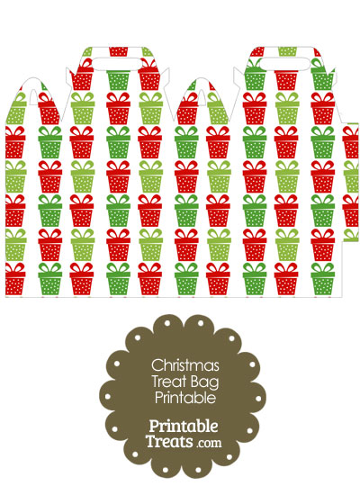 Christmas Presents Treat Bag from PrintableTreats.com