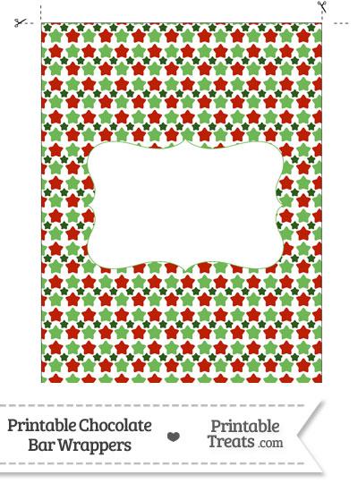 Christmas Stars Chocolate Bar Wrappers from PrintableTreats.com