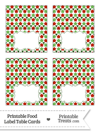 Christmas Stars Food Labels from PrintableTreats.com