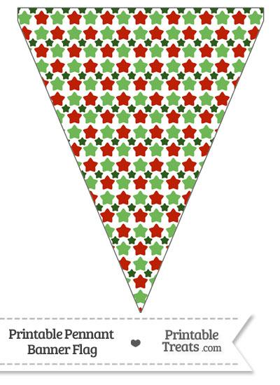 Christmas Stars Pennant Banner Flag from PrintableTreats.com