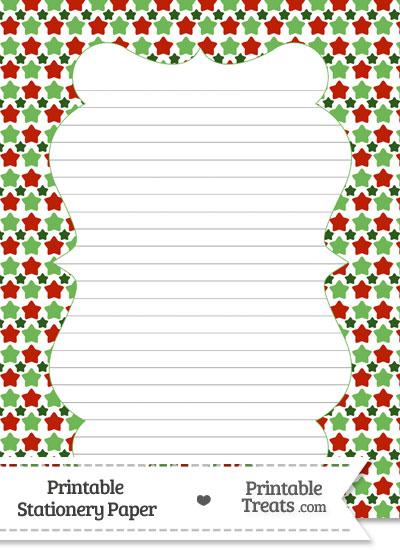 Christmas Stars Stationery Paper from PrintableTreats.com
