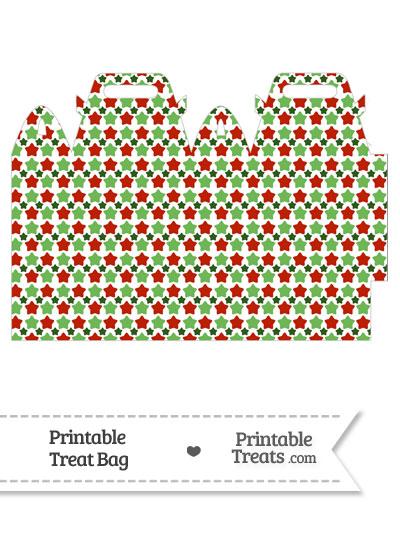 Christmas Stars Treat Bag from PrintableTreats.com