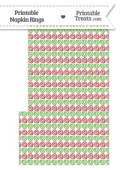 Christmas Swirls Napkin Rings from PrintableTreats.com