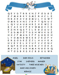 printable nativity word search