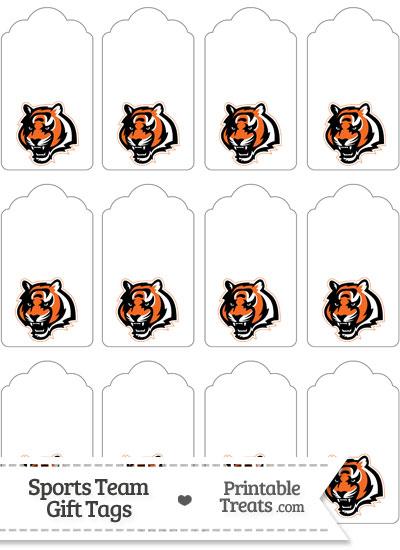 Cincinnati Bengals Gift Tags from PrintableTreats.com