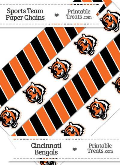 Cincinnati Bengals Paper Chains from PrintableTreats.com