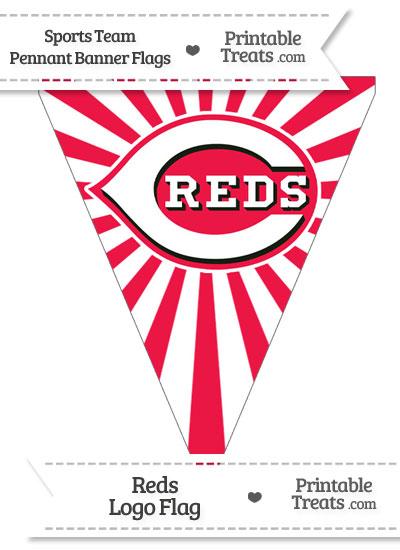 Cincinnati Reds Pennant Banner Flag from PrintableTreats.com