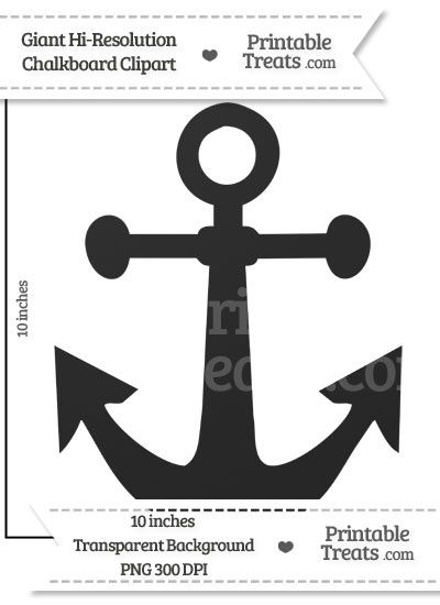 Clean Chalkboard Giant Anchor Clipart from PrintableTreats.com