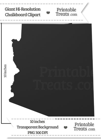 Clean Chalkboard Giant Arizona State Clipart from PrintableTreats.com