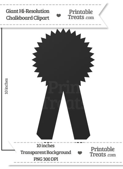 Clean Chalkboard Giant Award Ribbon Clipart from PrintableTreats.com