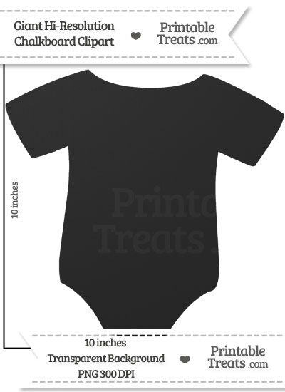 Clean Chalkboard Giant Baby Onesie Clipart from PrintableTreats.com