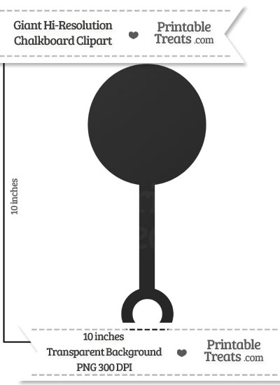 Clean Chalkboard Giant Baby Rattle Clipart from PrintableTreats.com