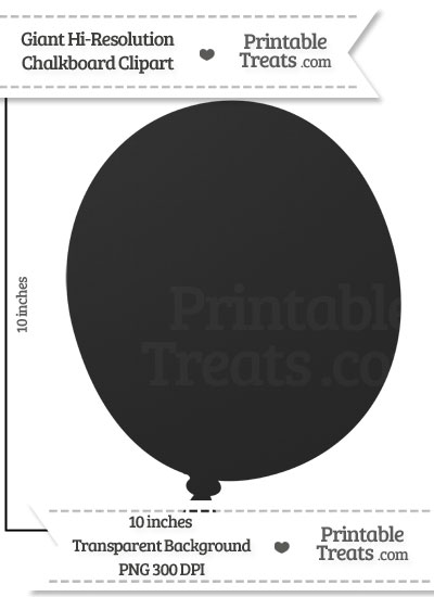 Clean Chalkboard Giant Balloon Clipart from PrintableTreats.com