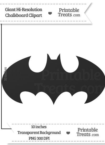 Clean Chalkboard Giant Batman Symbol Clipart from PrintableTreats.com
