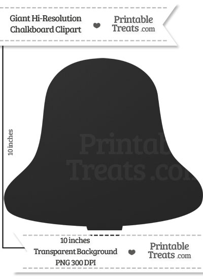 Clean Chalkboard Giant Bell Clipart from PrintableTreats.com