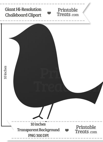 Clean Chalkboard Giant Birdy Clipart from PrintableTreats.com