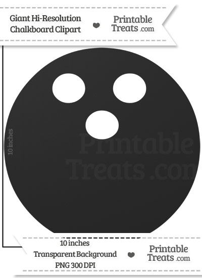 Clean Chalkboard Giant Bowling Ball Clipart from PrintableTreats.com