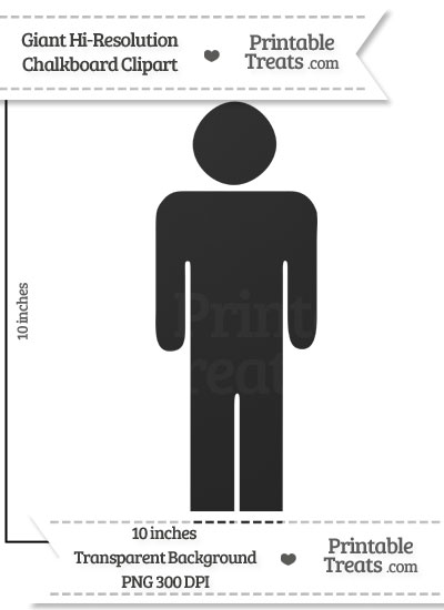 Clean Chalkboard Giant Boy Pictograph Clipart from PrintableTreats.com