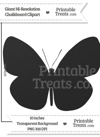 Clean Chalkboard Giant Butterfly Clipart from PrintableTreats.com
