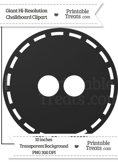 Clean Chalkboard Giant Button Clipart from PrintableTreats.com