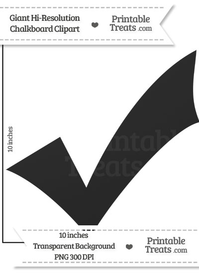 Clean Chalkboard Giant Checkmark Clipart from PrintableTreats.com