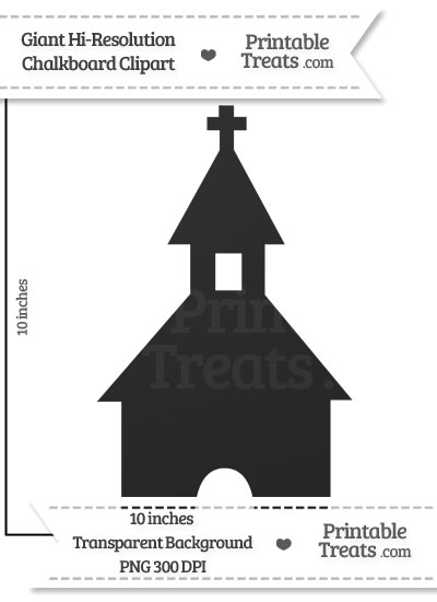 Clean Chalkboard Giant Church Steeple Clipart from PrintableTreats.com