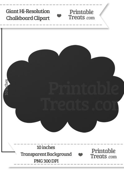 Clean Chalkboard Giant Cloud Clipart from PrintableTreats.com
