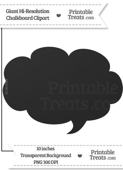 Clean Chalkboard Giant Cloud Talk Bubble Clipart from PrintableTreats.com