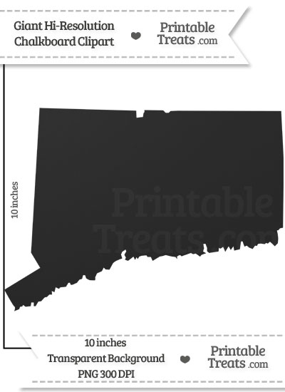 Clean Chalkboard Giant Connecticut State Clipart from PrintableTreats.com