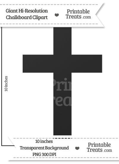 Clean Chalkboard Giant Cross Clipart from PrintableTreats.com