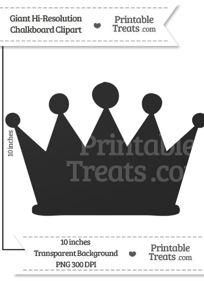Clean Chalkboard Giant Crown Clipart from PrintableTreats.com