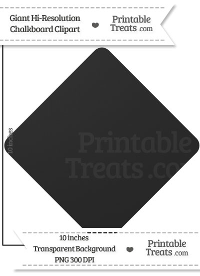 Clean Chalkboard Giant Diamond Card Symbol Clipart from PrintableTreats.com
