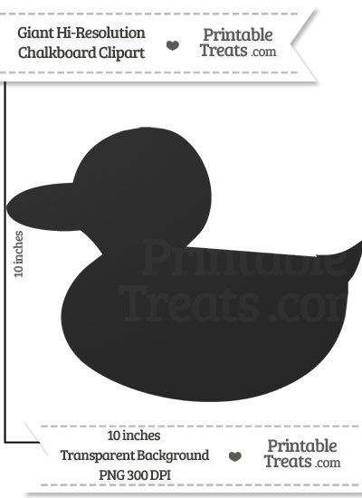 Clean Chalkboard Giant Duckling Clipart from PrintableTreats.com