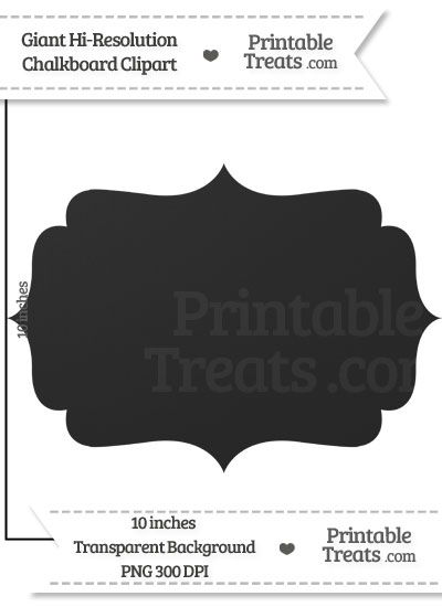 Clean Chalkboard Giant Fancy Label Clipart from PrintableTreats.com