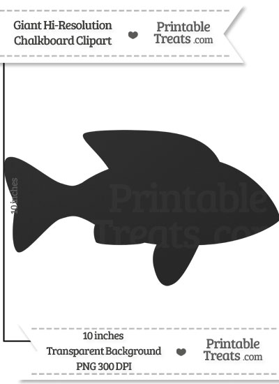 Clean Chalkboard Giant Fish Clipart from PrintableTreats.com