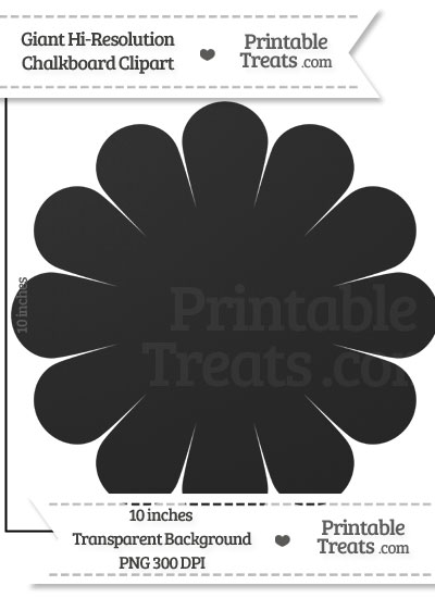 Clean Chalkboard Giant Flower Clipart from PrintableTreats.com