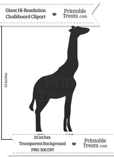 Clean Chalkboard Giant Giraffe Clipart from PrintableTreats.com