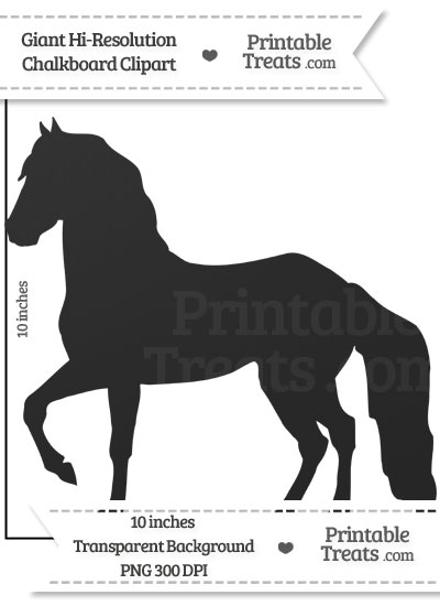 Clean Chalkboard Giant Horse Clipart from PrintableTreats.com