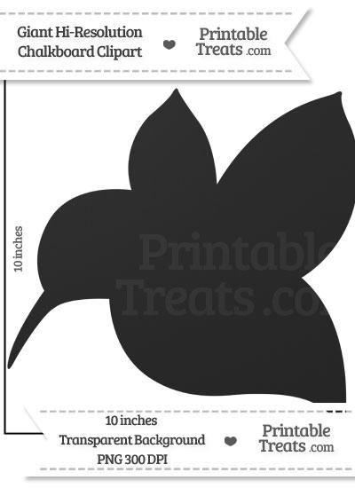 Clean Chalkboard Giant Hummingbird Clipart from PrintableTreats.com