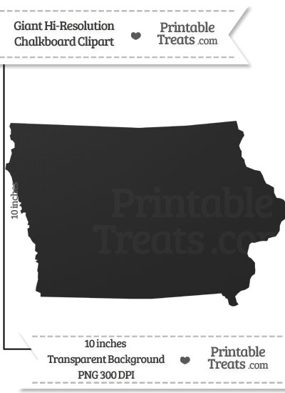 Clean Chalkboard Giant Iowa State Clipart from PrintableTreats.com