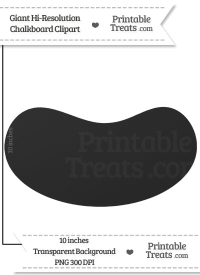 Clean Chalkboard Giant Jelly Bean Clipart from PrintableTreats.com
