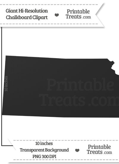 Clean Chalkboard Giant Kansas State Clipart from PrintableTreats.com