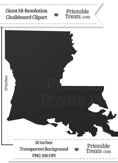 Clean Chalkboard Giant Louisiana State Clipart from PrintableTreats.com