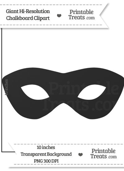 Clean Chalkboard Giant Masquerade Mask Clipart from PrintableTreats.com