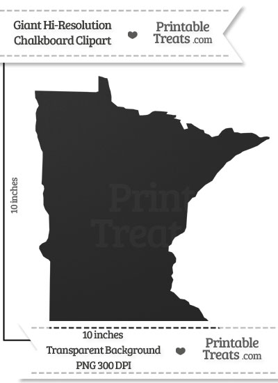 Clean Chalkboard Giant Minnesota State Clipart from PrintableTreats.com