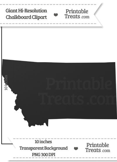 Clean Chalkboard Giant Montana State Clipart from PrintableTreats.com
