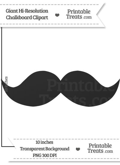 Clean Chalkboard Giant Mustache Clipart from PrintableTreats.com
