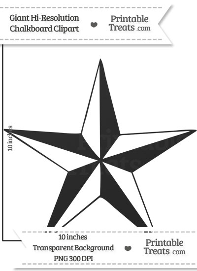 Clean Chalkboard Giant Nautical Star Clipart from PrintableTreats.com