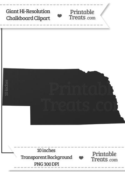 Clean Chalkboard Giant Nebraska State Clipart from PrintableTreats.com